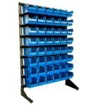 Купить стеллаж для метизов в Житомире с ящиками и траверсами 1,5 м + контейнеры 48шт