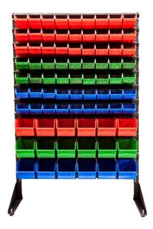 Торговая стойка с ящиками под запчасти - 81 шт высотой - 1,5 м
