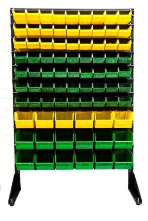 Торговая стойка с ящиками под запчасти