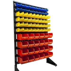 Складской стеллаж 1,5 м для метизов с ящиками 78 шт