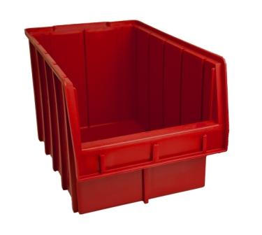 Пластиковые складские лотки 700 красный 200 х 210 х 350
