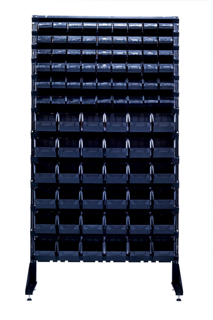 Металлические стеллажи торговые 1800 мм + 90 кювет пластиковых