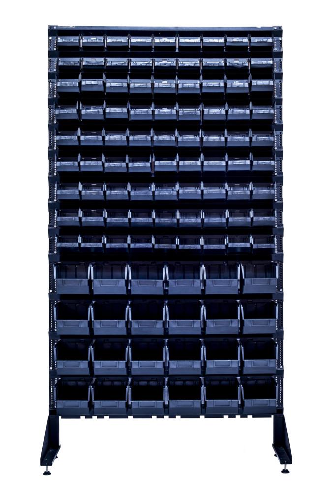 Cборные стеллажи для гаража 1800 мм + 105 контейнеров пластиковых