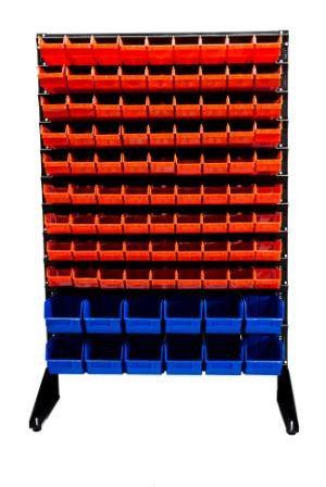 Стеллаж с ящиками для магазина под запчасти - 93 шт высотой - 1,5 м