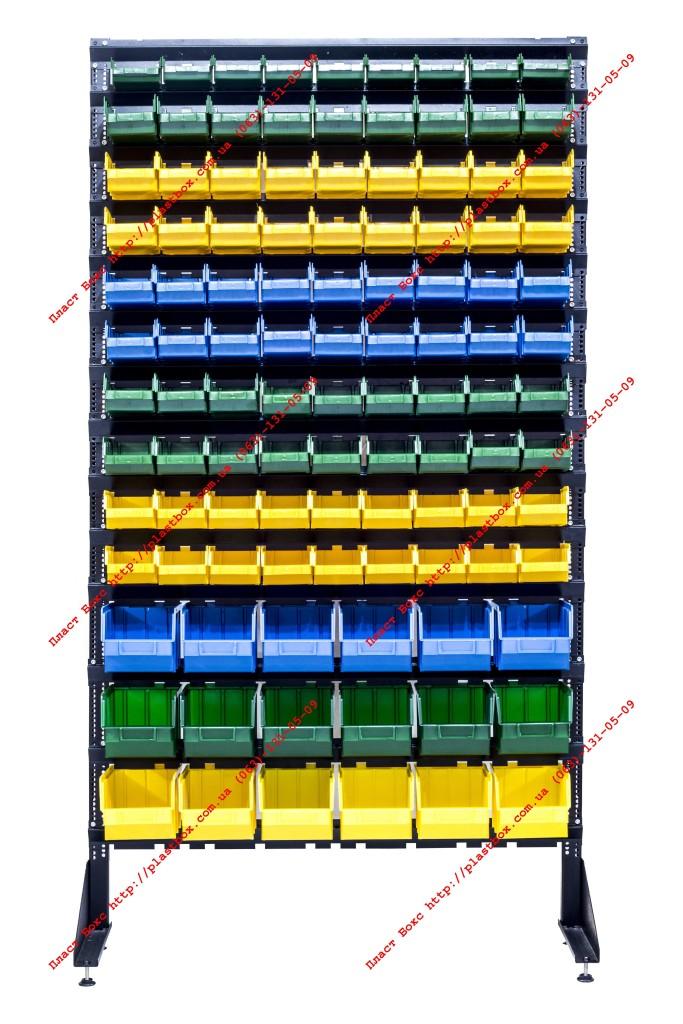Контейнер пластиковый складской на стойке