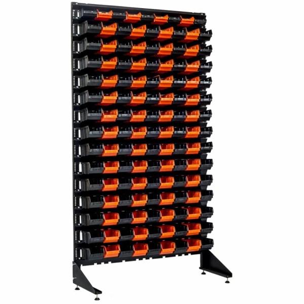 Метизный ящик на стеллаже на 135 шт с высотой каркаса - 1800 мм