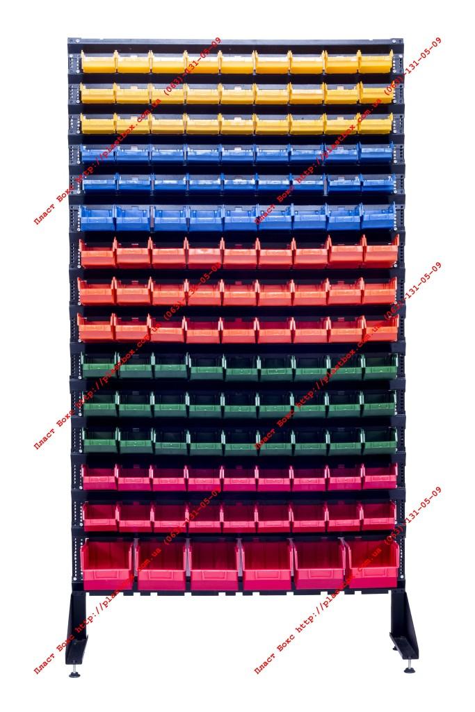 Напольный стеллаж - стенд под крепеж гайки