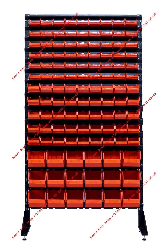 Пристенный универсальный стеллаж с контейнерами