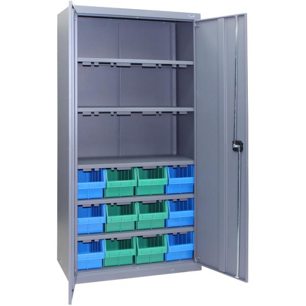 Шкаф с лотками для хранения метизов