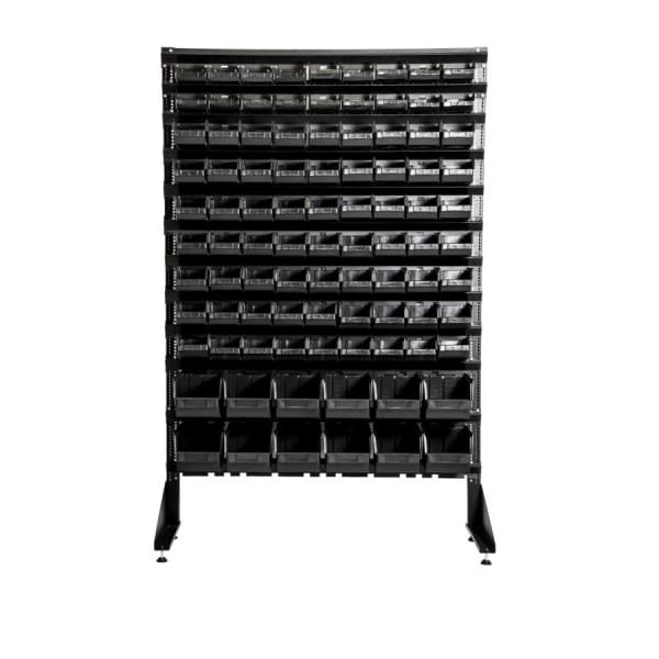 Складской стеллаж с ящиками - 93 шт высотой - 1,5 м