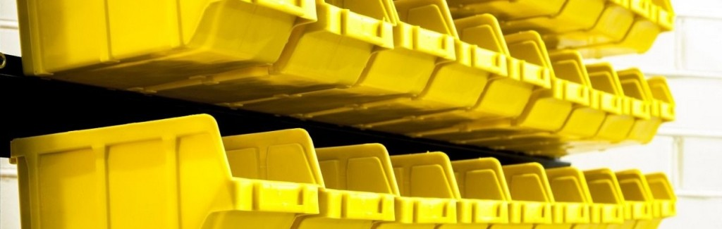 Ящики для метизов Бар. Купить стеллаж для метизов. Складские стеллажи и пластиковые лотки.