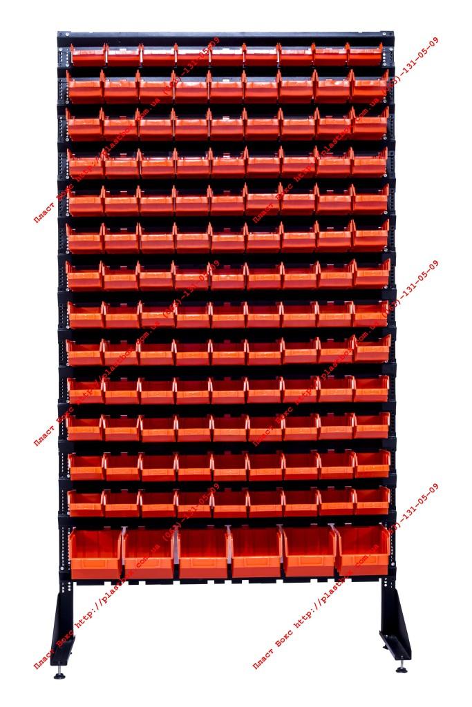 Стеллаж с контейнерами - пристенный под фланец