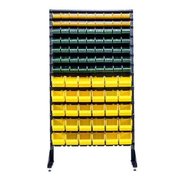 Стеллажи для крепежных комплектующих 1800 с кюветами 93 шт