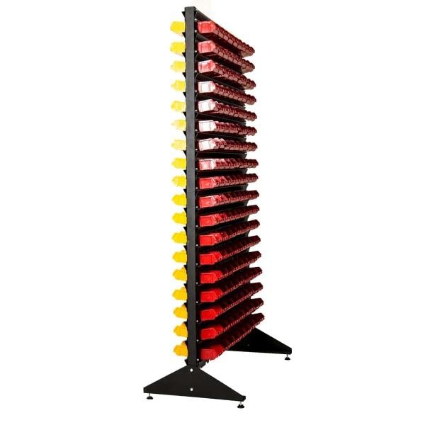 Стеллажи под метизы двухсторонний 1,8 + складские ящики для мелочевки 324
