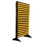 Стеллажи под метизы двухсторонний 1,8 + складские ящики для мелочевки