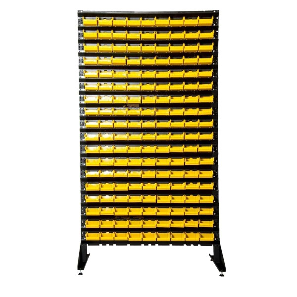 Стеллажи под метизы двухсторонний 1,8 складские ящики для мелочевки 324 шт
