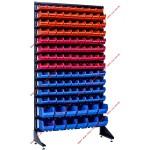 Стенд-стеллаж с кюветами пластиковыми 120 штук на 1,8 м