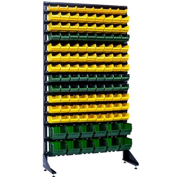 Стойка с ящиками для мелочей и сантехнические материалы на 120 шт лотков