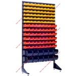 ТТорговая стойка с лотками под сантехнические запчасти на 120 лотков