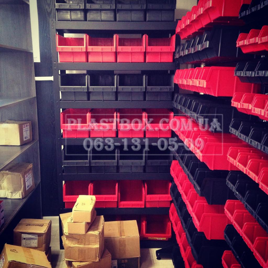Торговые стеллажи и ящики для склада