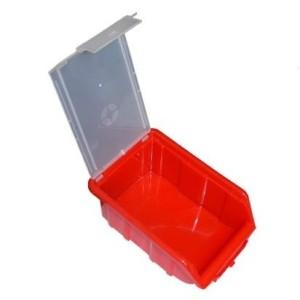 ящик красный с крышкой открытый