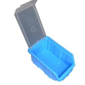 ящик синий с крышкой открытый