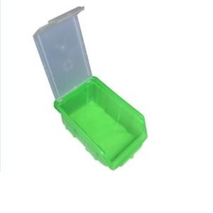 ящик зеленый с крышкой открытый