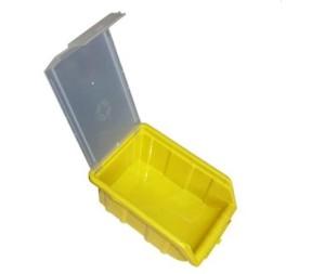 ящик желтый с крышкой открытый